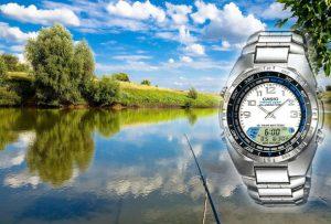 часы для рыбалки, обзор часов Casio AMW700