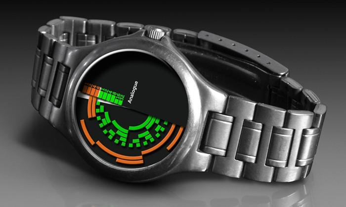 необычные бинарные часы
