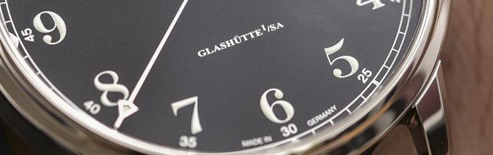 надпись на циферблате Glashütte I/SA